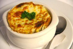 French Onion Soup from Le Petit Bistro in La Jolla, CA