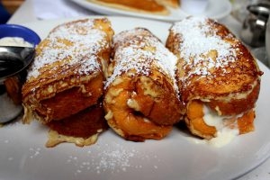 Stuffed French Toast from The Cottage La Jolla restaurant. Image originally from user Oleg. on flickr.com