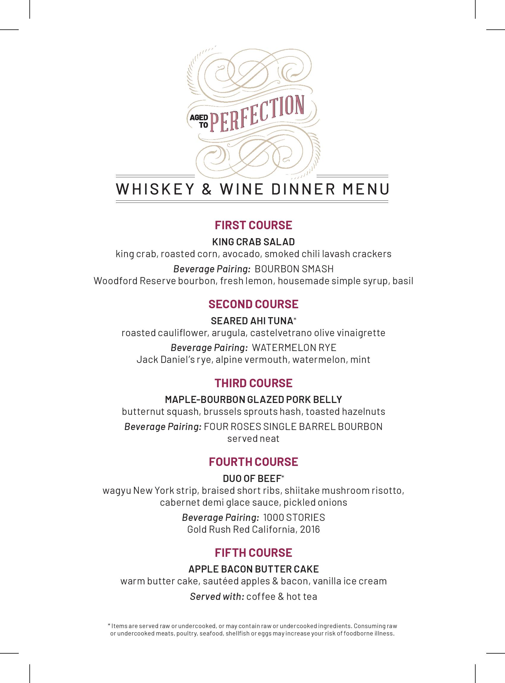 flemings la jolla wine whiskey dinner
