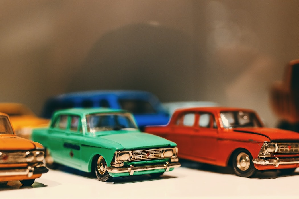Cars of different colors