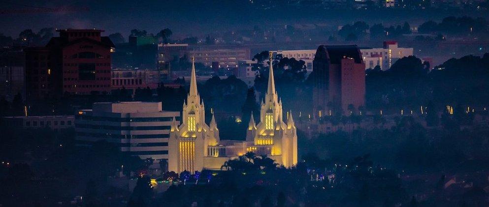 Mormon Temple in La Jolla area of San Diego
