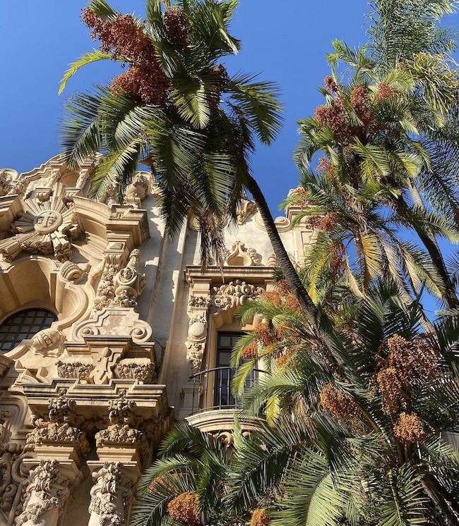 Spanish colonial style confections Balboa Park