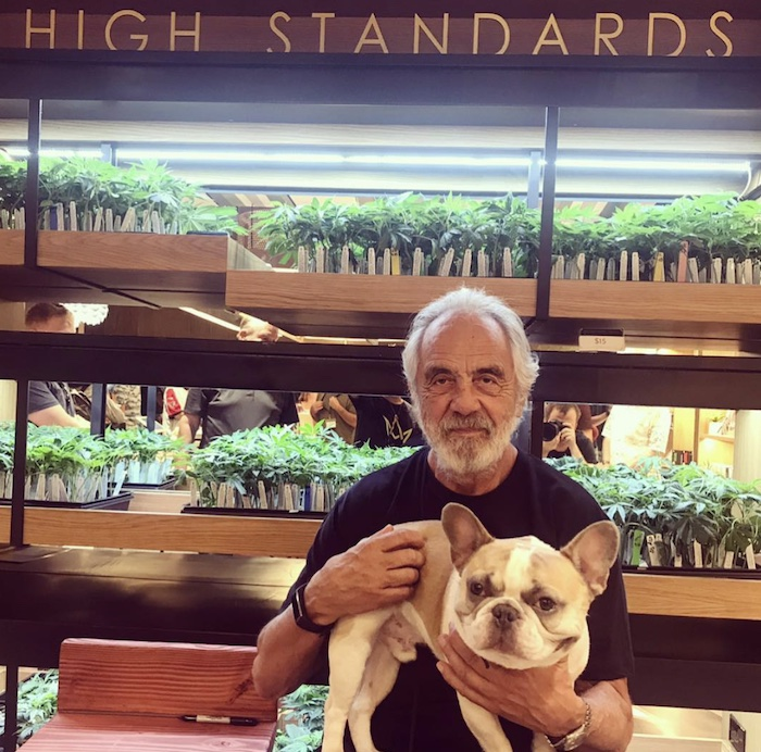 Tommy Chong at Marsh and Ash in San Diego