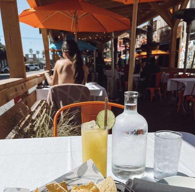 Outdoor dining at Puesto
