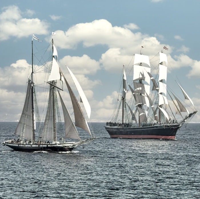 The Star of India under full sail