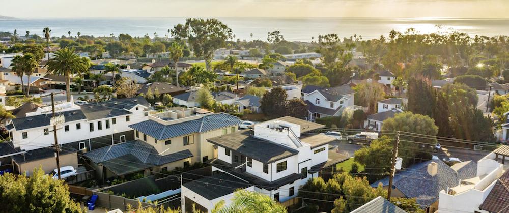 Homes in La Jolla, a neighborhood of San Diego