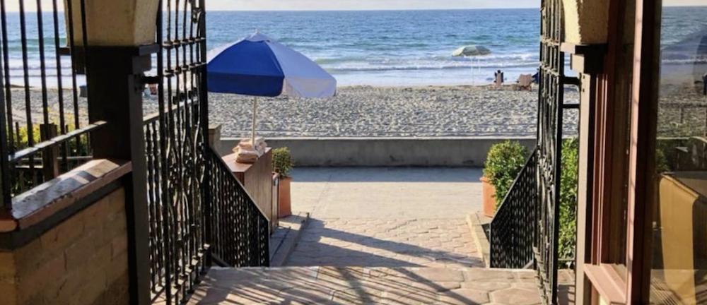 An ocean view hotel in San Diego
