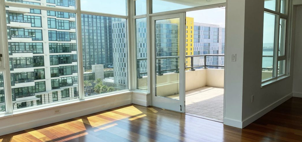 A San Diego apartment listed by a property management company